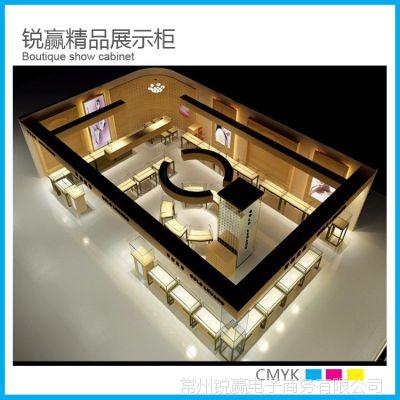 常州厂家直销展示柜 精品黄金 手镯银饰展示柜 定做亚克力珠宝柜