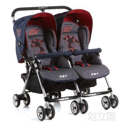 好孩子Goodbaby 双胞胎婴儿手推车SD599豪华婴儿车轻便折叠可坐躺