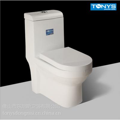 供应TONYS-L6006虹吸式白色时尚连体马桶 节水工程坐便器