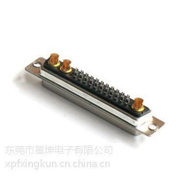 D-SUB 18W3大电流插座连接器 D-SUB焊接式防火18W3公头/母头