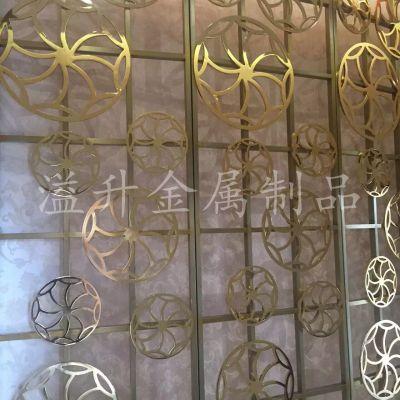 溢升加厚铝板雕花屏风定做佛山款式齐全镂空隔断大全图片