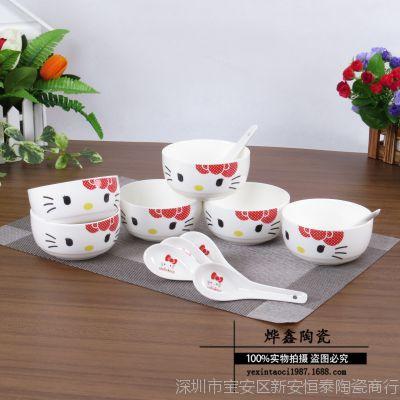 批发6碗6勺韩式碗/韩式礼品套装/商务礼品碗/ 广告促销(彩盒)