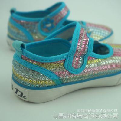 回力童鞋 正品韩版时尚儿童学生休闲魔术贴帆布单鞋 童鞋批发直销