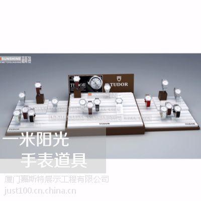 供应木制手表摆件展示台 西铁城钟表专柜展示道具 浪琴木制钟表展示架