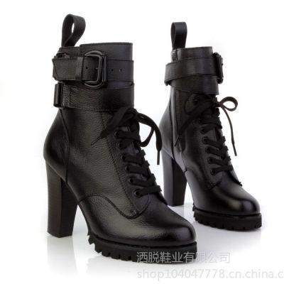 供应新款马丁靴,真皮粗跟短靴,温州真皮女鞋
