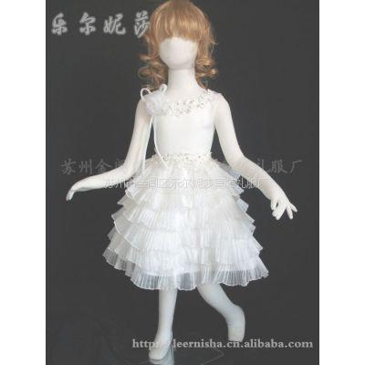 供应新款花童装/精致塔裙儿童礼服/压皱水晶纱A-9062/苏州童装礼服厂