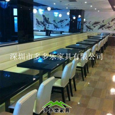 供应餐厅优质餐桌 耐磨大理石餐桌 防火板餐桌 深圳热销
