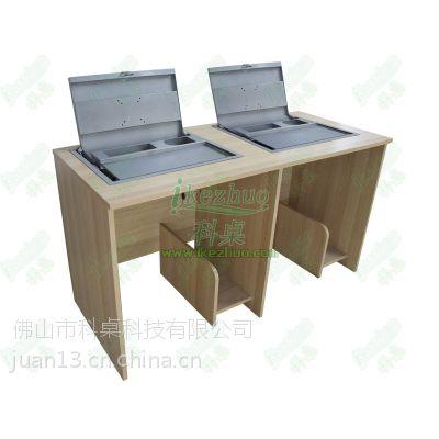 箱体式翻转电脑桌 手动翻转桌 电脑翻转器电脑桌