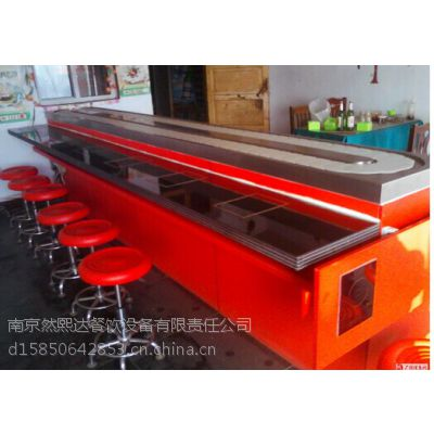 惠州然熙达不锈钢旋转火锅传送带设备小火锅传送带7大优势