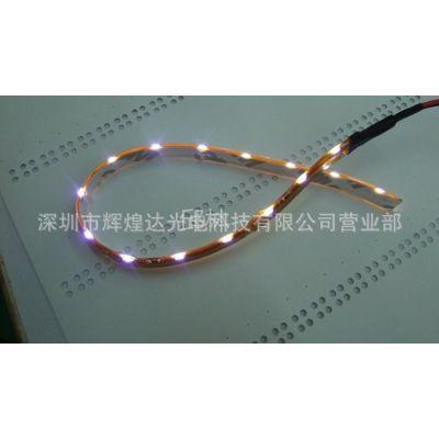 供应LED侧发光软灯条,335侧发光灯带,60灯/米,滴胶防水,5MM黄板