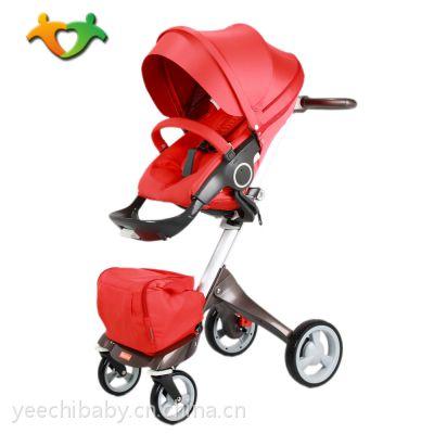 格诺卡V4高景观四轮婴儿推车STOKKE同款童车