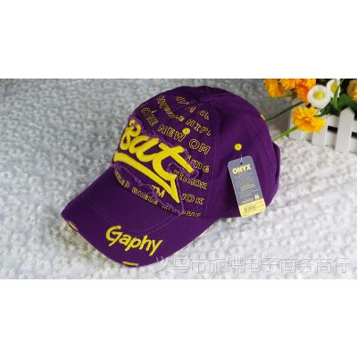 2015韩版新款春夏Bat字母棒球帽成人帽 女士鸭舌帽帽子厂家直销