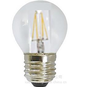 供应高质量的 暖白的 LED G45 灯丝灯泡 CE&RoHs认证的G45 led 灯丝灯泡