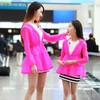 儿童母女装夏装2015款亲子装韩版夏季防紫外线长袖防晒衣一件代发