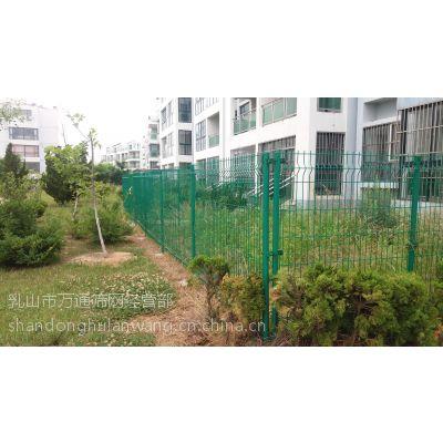 供应乳山万通小区护栏网 002-2 乳山浸塑隔离市政园林防护网造型美观安全性能高、防攀爬、不变形、