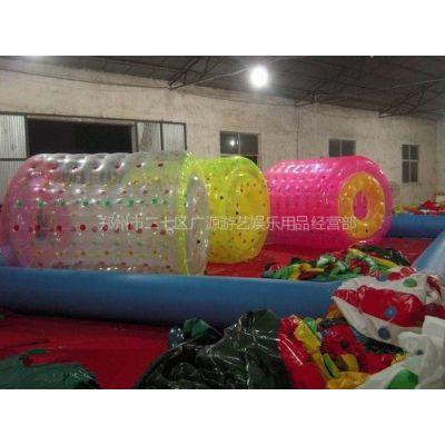供应复合材料水上充气滚筒充气玩具、充气城堡、水上步行球、滚筒球
