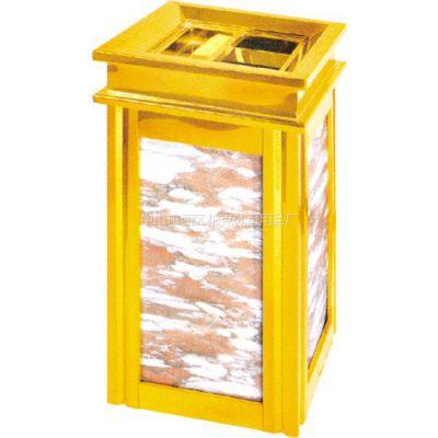 供应供应中山办公室钛金垃圾桶,石岐区大厅专用大理石垃圾箱