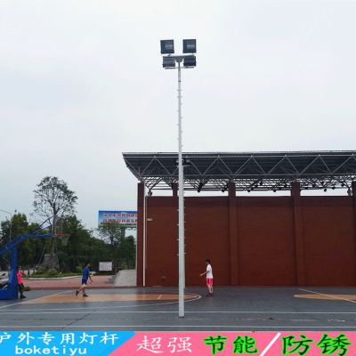 镀锌防腐篮球场照明灯杆生产厂家 云南篮球场灯杆