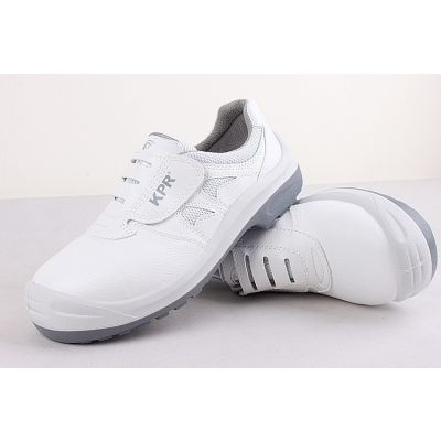 尊王L-088白色防静电安全鞋 无尘室防砸时尚防静电劳保鞋