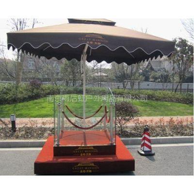 南京不锈钢站台单层站台可定制配户外遮阳伞,南京岗台定做厂家