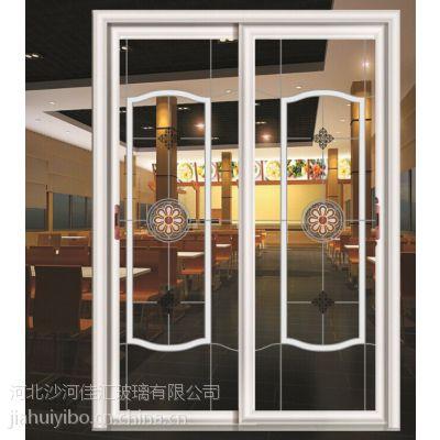 佳汇厂家供应2016新款钛钢烫花隔断玻璃,主要用于阳台、厨房,外观优雅、高档、美观