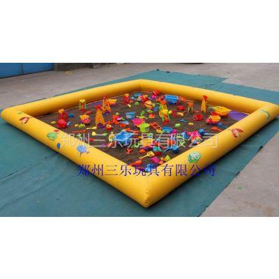 供应儿童室外玩沙池,充气沙池价格,充气沙滩池玩具,多买多送