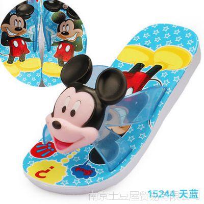 迪士尼夏季大童拖鞋儿童童鞋男童洞洞鞋女童防滑沙滩鞋宝宝凉拖鞋