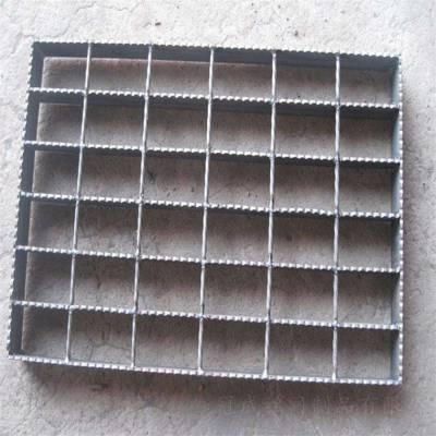 【6mm横杆麻花钢钢格板 G303/30/100扁钢钢格栅板 q235热镀锌钢格板】