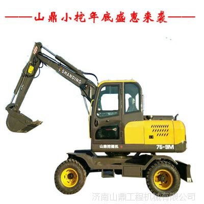 河南轮胎小挖机多少钱一台 国产轮式挖掘机价格及图片