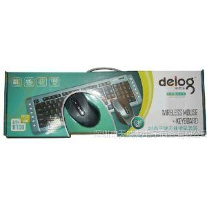 供应批发正品德意龙DY-8100 2.4G光电变速电脑笔记本无线键鼠套装