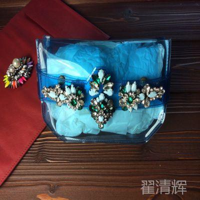 超火爆 vintage shourouk风复古奢华绝美宝石透明单肩包 手抓包