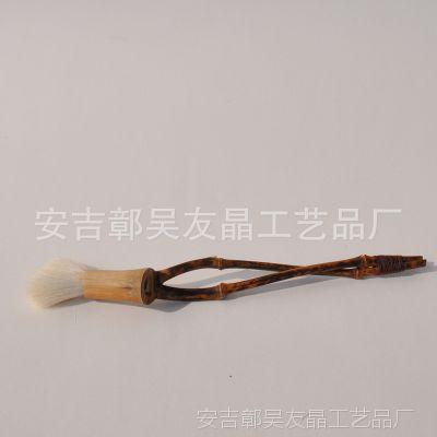 厂家直销 供应带毛刷竹枝养茶壶笔 小型竹枝养茶壶笔茶中六君子