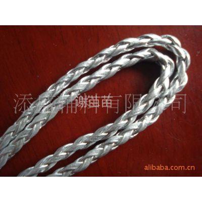 供应PU编织绳,3mmPU皮革金/银编织绳,4股/6股/8股编织圆绳,真皮编织绳