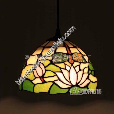 供应欧式家装灯具阳台餐厅酒吧温馨玻璃吊灯单头吧台吊灯0821C