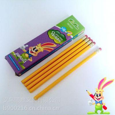 HB优质木杆铅笔 黄杆铅笔 学生铅笔 厂家批发直销 支持来样加工