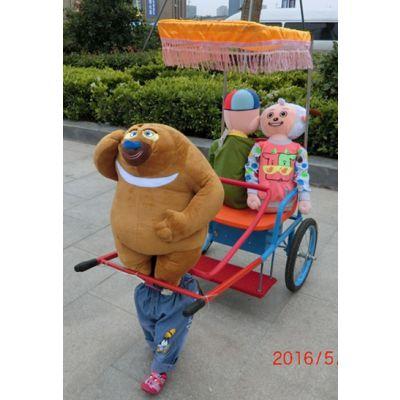 机器人拉车,机器人拉车价格,公园热卖机器人拉车
