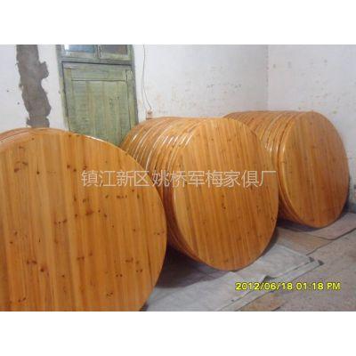 大量供应 杉木圆桌面 杉木餐桌 实木桌