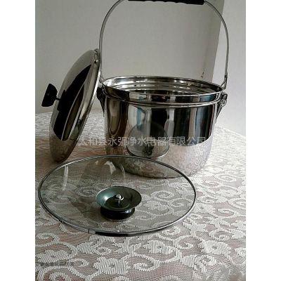 供应免火再煮不锈钢锅 手提高效节能锅汤煲焖锅 电气两用锅
