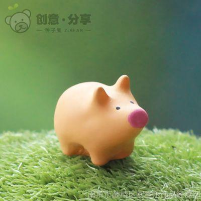 大小猪 猪圈 多肉微景观DIY素材批发配件装饰件树脂摆件
