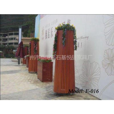 供应树木种植花盆 广场实木花箱 广东花箱