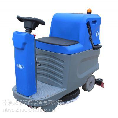 威卓迷你小型驾驶洗地机X6,电瓶容量大,时间持久