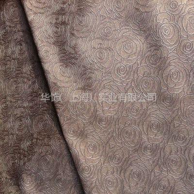 供应半pu玫瑰花图案合成皮革软包装饰皮革相册菜单封皮专用皮革