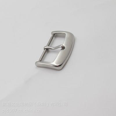 深圳鹏嘉工厂批发供应304优质不锈钢手表扣 真皮皮带扣26mm(J685)