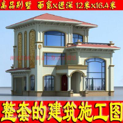 田园风格带走廊、阁楼二层美观自建房子设计图12x16.1米