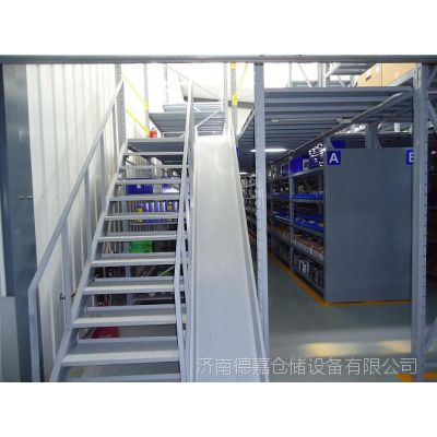 济南德嘉定做呼和浩特阁楼式货架 安装钢平台 4S店货架