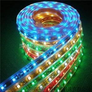 供应3528RGB 滴胶灯条 柔性灯带 PVC防水灯条