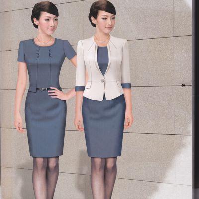 2015夏装新款大码女装短袖爆款连衣裙韩版时尚显瘦职业OL套裙定做