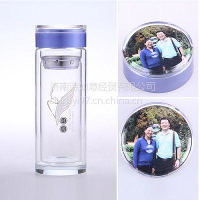 供应陕西广告杯定制 北京双层玻璃杯礼品杯价格诗如意