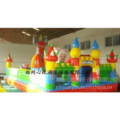 供应重庆广场儿童充气跳跳床,奥特曼喜洋洋大型充气城堡价格款
