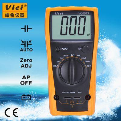 维希Vici VC6013 3位半手动量程电容表(电容自动放电不烧表)